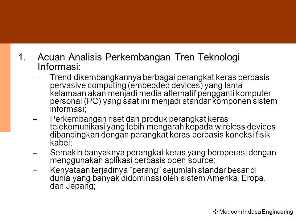 Acuan Analisis Perkembangan Tren Teknologi Informasi: