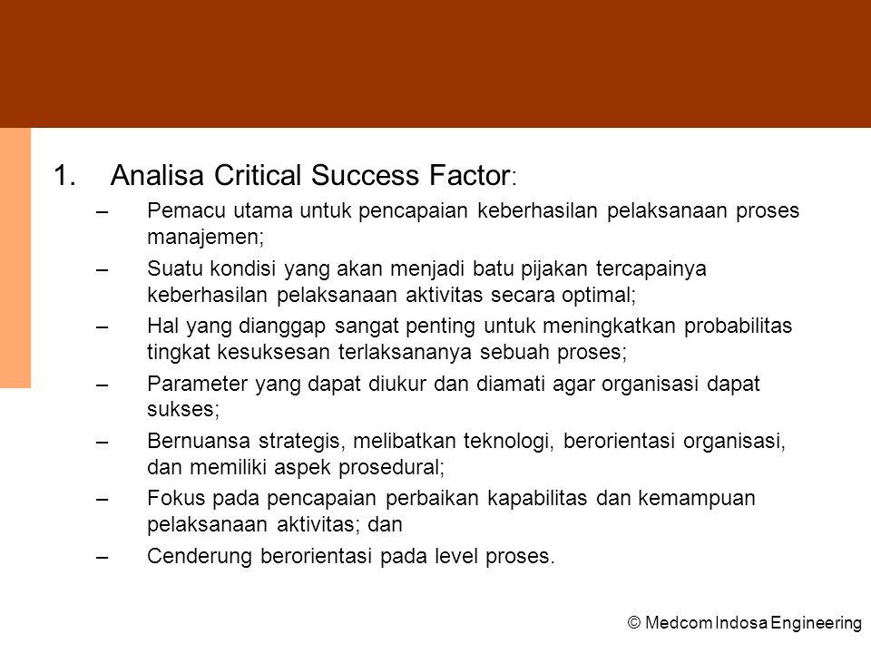 Analisa Critical Success Factor:
