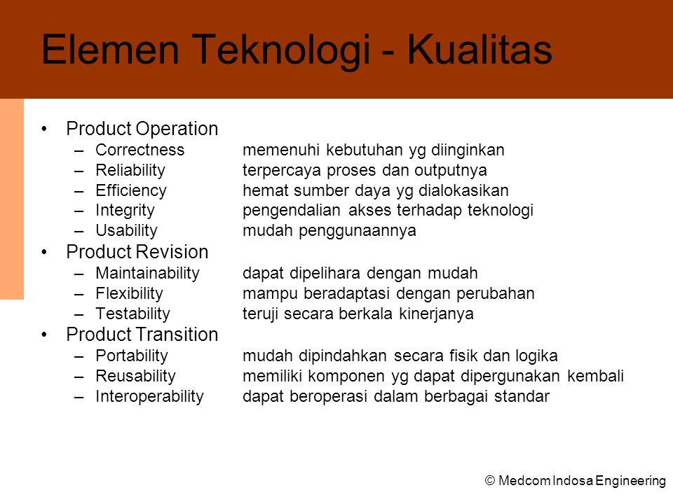 Elemen Teknologi - Kualitas