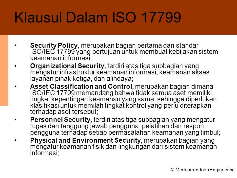 Klausul Dalam ISO 17799