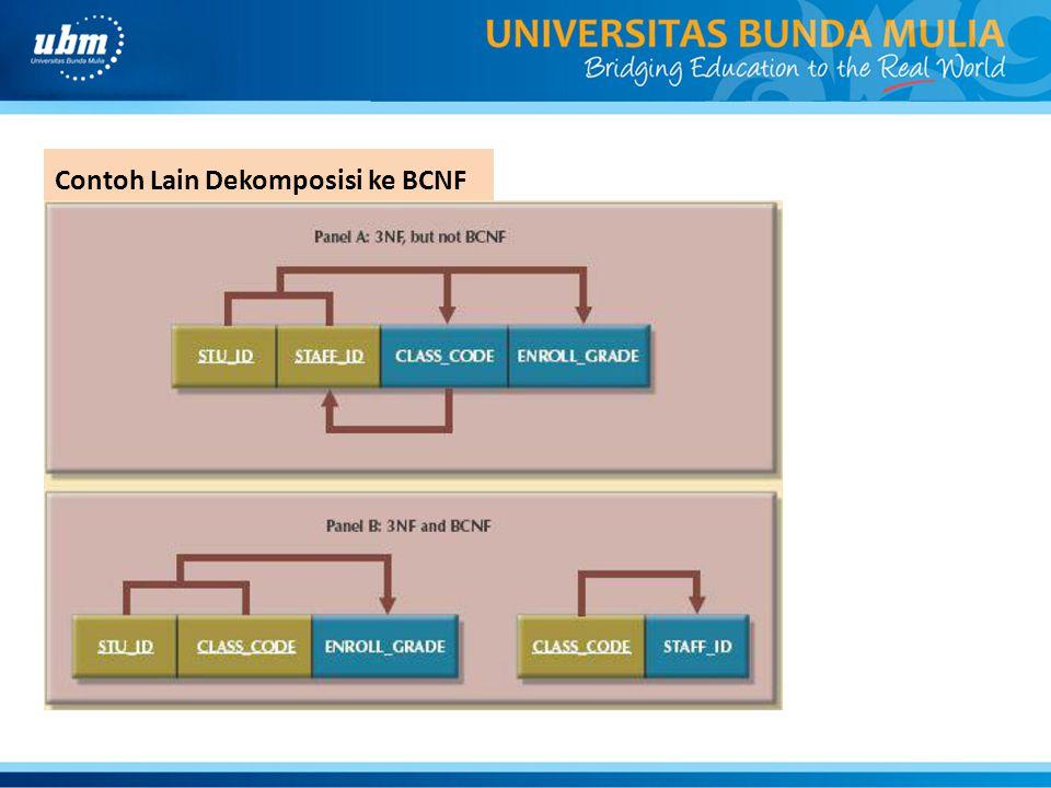 Contoh Lain Dekomposisi ke BCNF