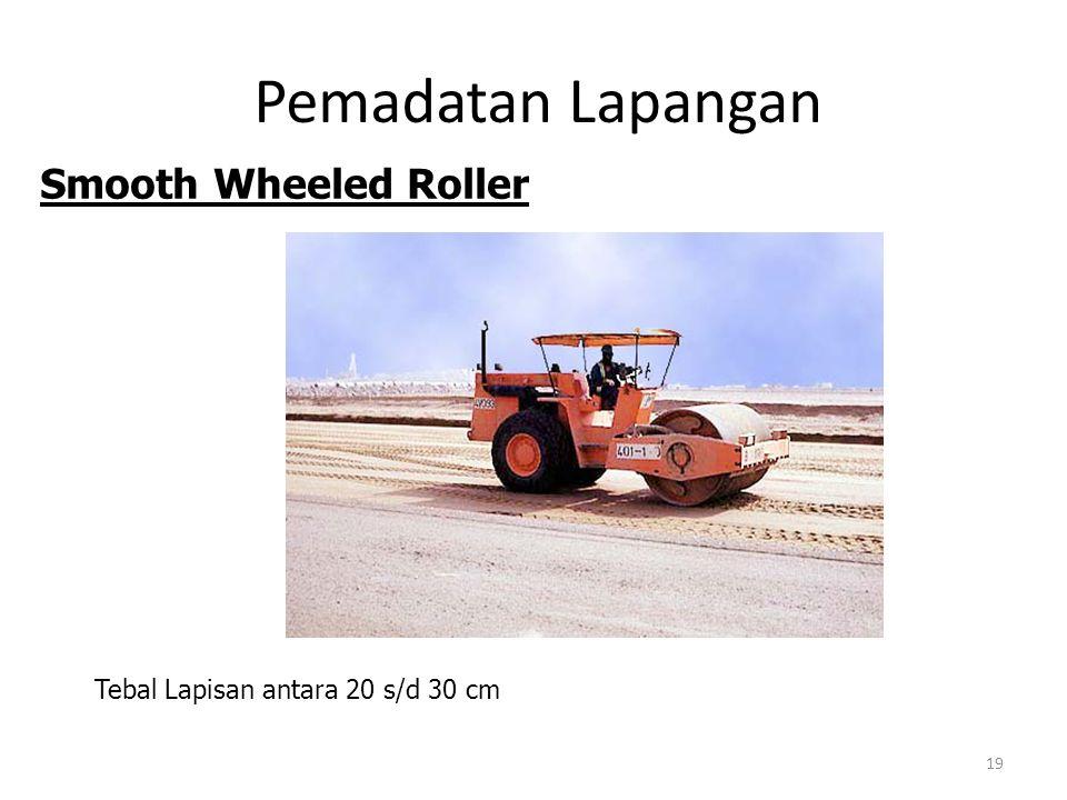 Pemadatan Lapangan Smooth Wheeled Roller