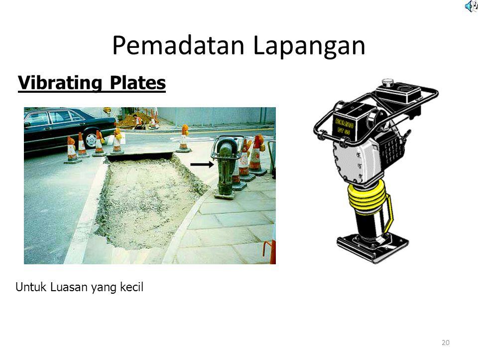Pemadatan Lapangan Vibrating Plates Untuk Luasan yang kecil
