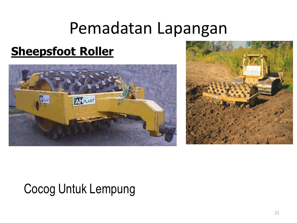 Pemadatan Lapangan Sheepsfoot Roller Cocog Untuk Lempung