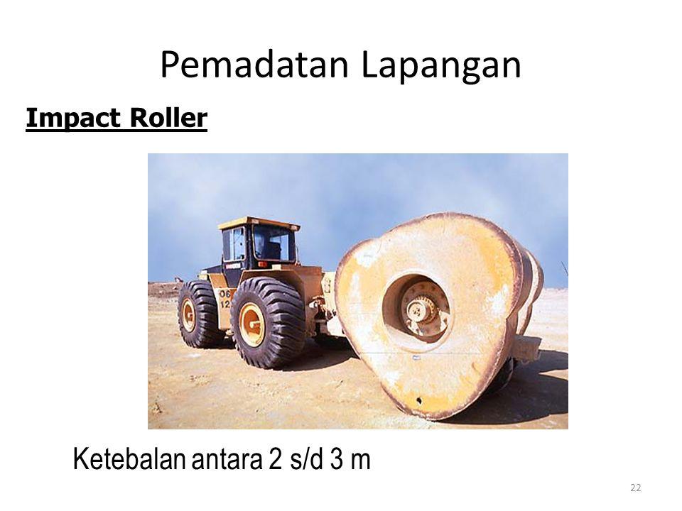 Pemadatan Lapangan Impact Roller Ketebalan antara 2 s/d 3 m