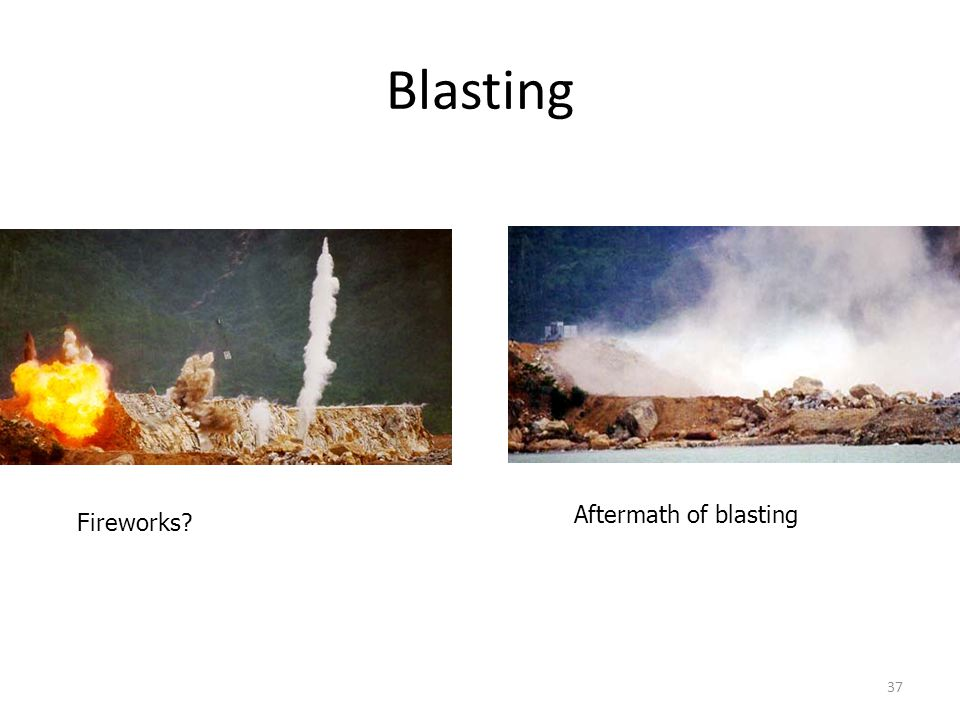 Blasting For densifying granular soils Aftermath of blasting