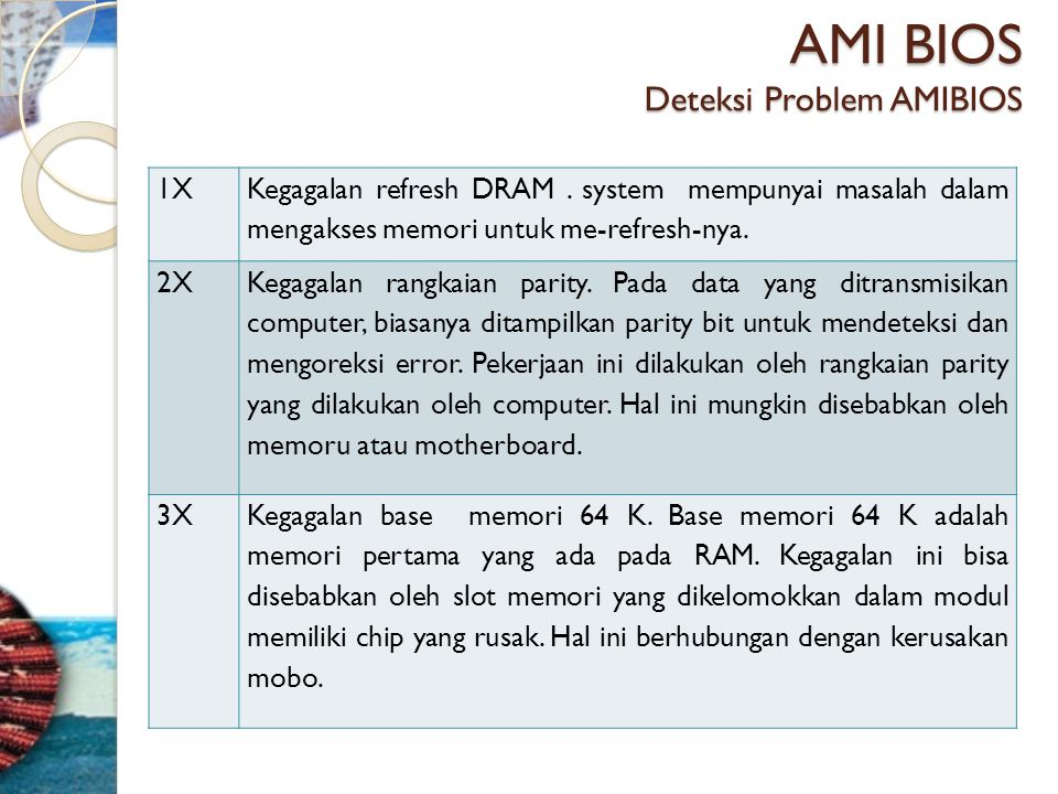AMI BIOS Deteksi Problem AMIBIOS