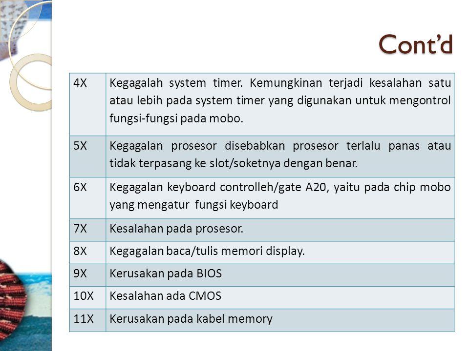 Cont'd 4X.