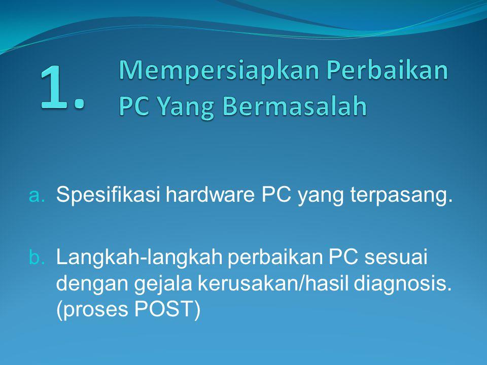 Mempersiapkan Perbaikan PC Yang Bermasalah