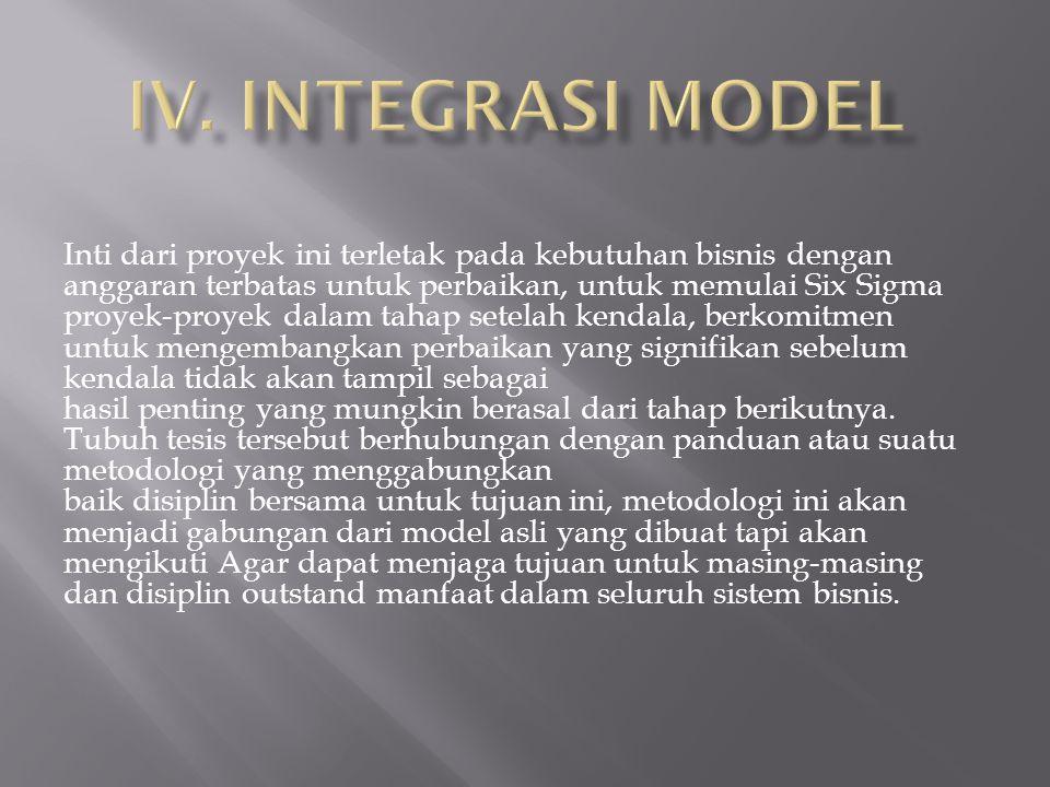 IV. INTEGRASI MODEL