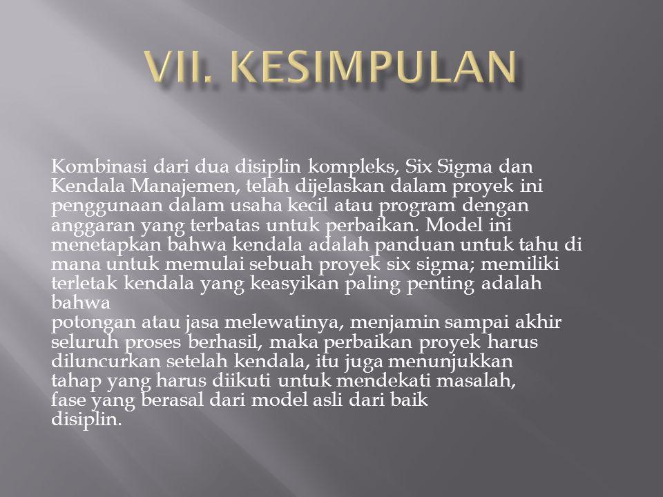 VII. KESIMPULAN