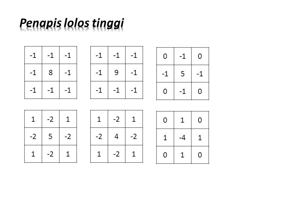 Penapis lolos tinggi -1 8 -1 9 -1 5 1 -2 5 1 -2 4 1 -4