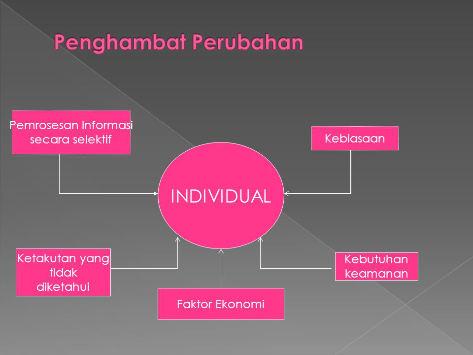 Penghambat Perubahan INDIVIDUAL Pemrosesan Informasi secara selektif