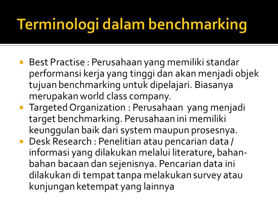 Terminologi dalam benchmarking