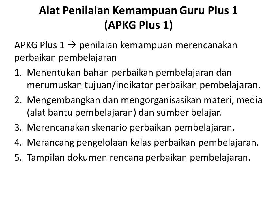 Alat Penilaian Kemampuan Guru Plus 1 (APKG Plus 1)