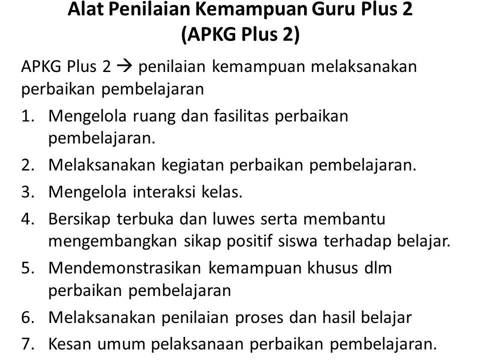 Alat Penilaian Kemampuan Guru Plus 2 (APKG Plus 2)