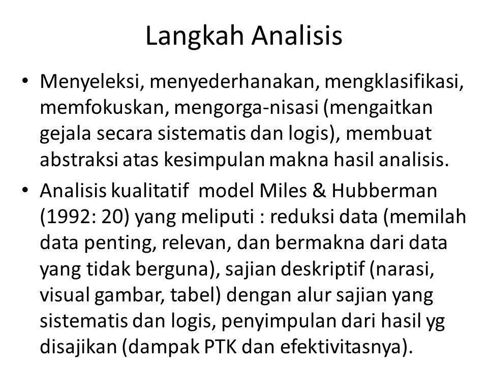 Langkah Analisis