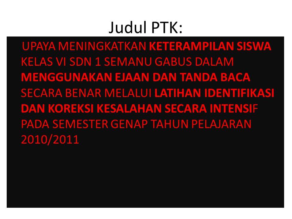 Judul PTK:
