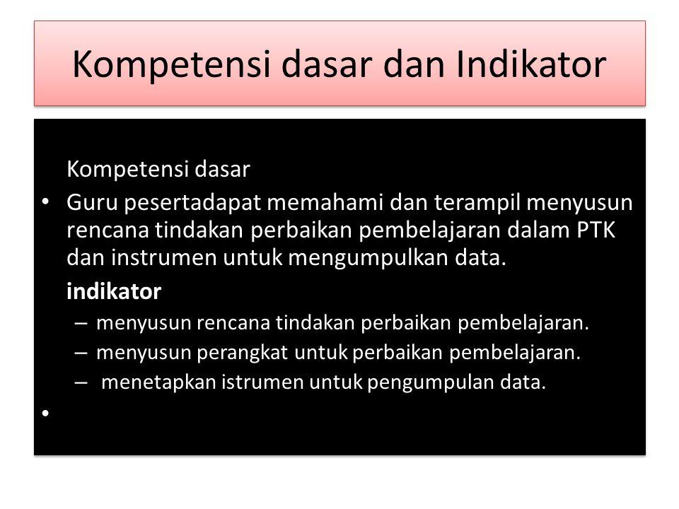 Kompetensi dasar dan Indikator