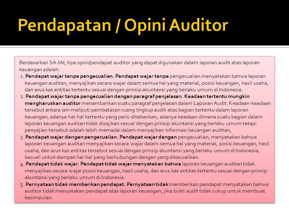 Pendapatan / Opini Auditor