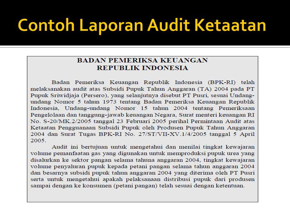 Contoh Laporan Audit Ketaatan