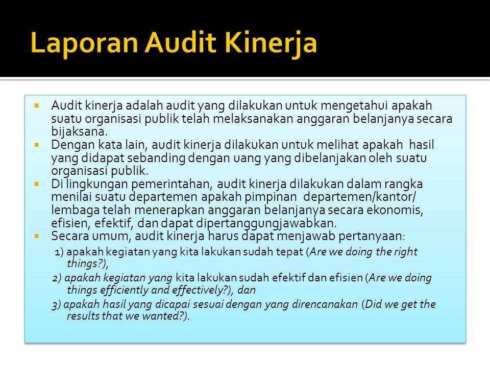 Laporan Audit Kinerja