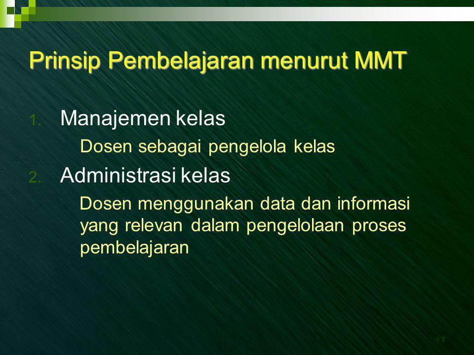 Prinsip Pembelajaran menurut MMT