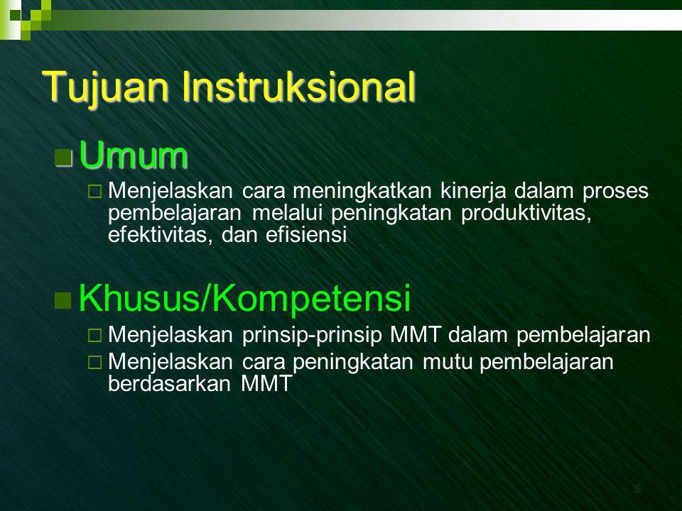 Tujuan Instruksional Umum Khusus/Kompetensi