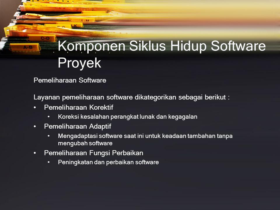 Komponen Siklus Hidup Software Proyek