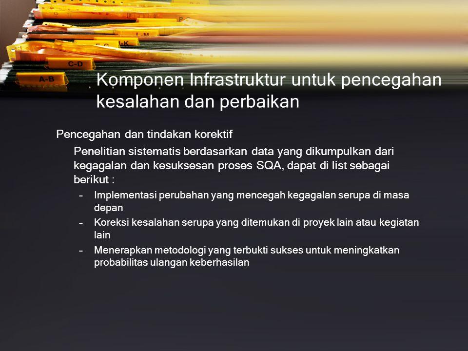 Komponen Infrastruktur untuk pencegahan kesalahan dan perbaikan
