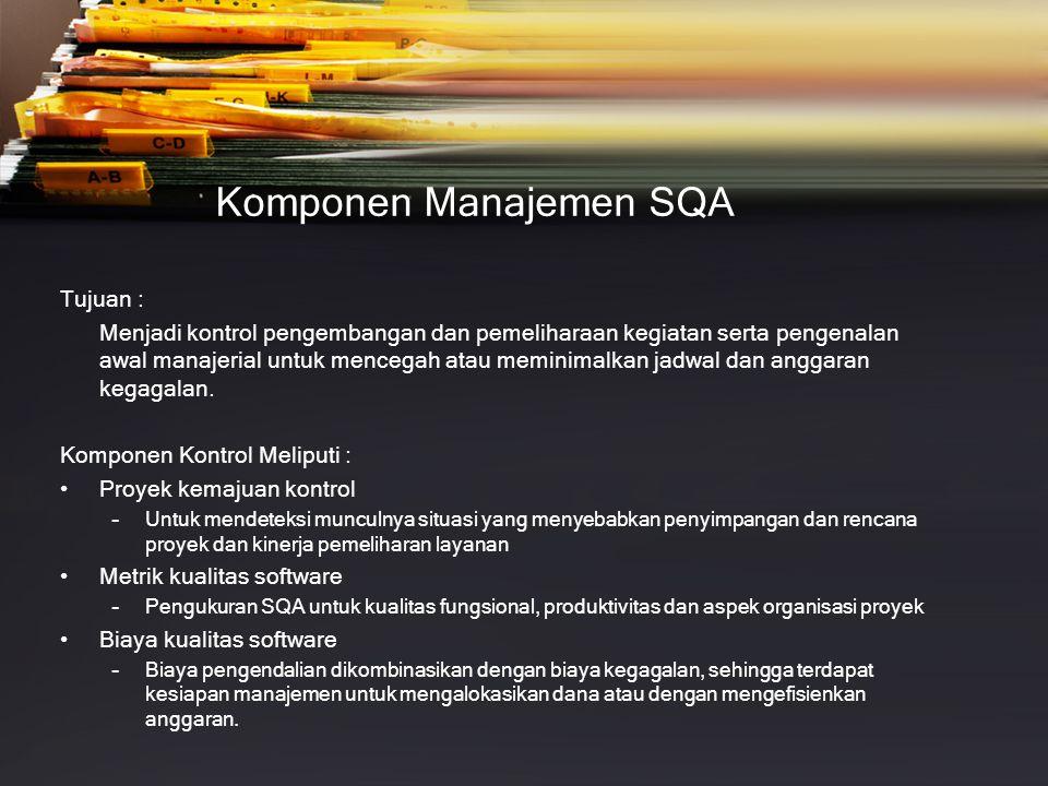 Komponen Manajemen SQA