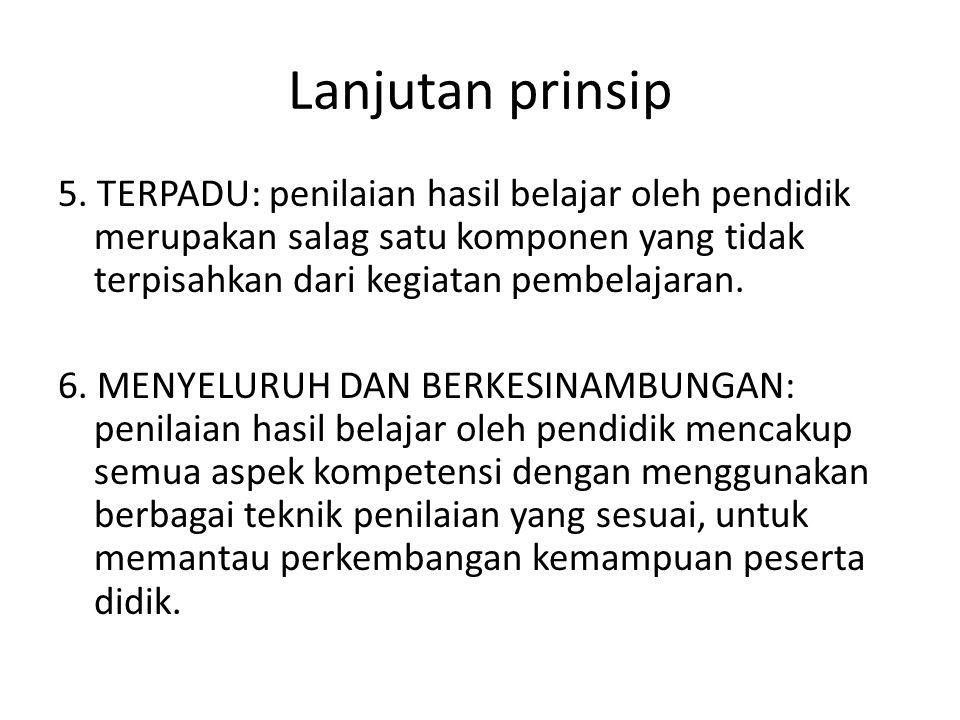Lanjutan prinsip
