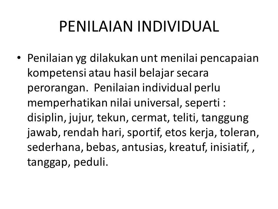 PENILAIAN INDIVIDUAL