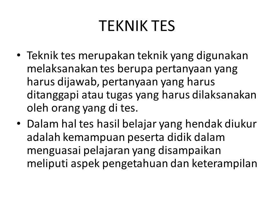 TEKNIK TES