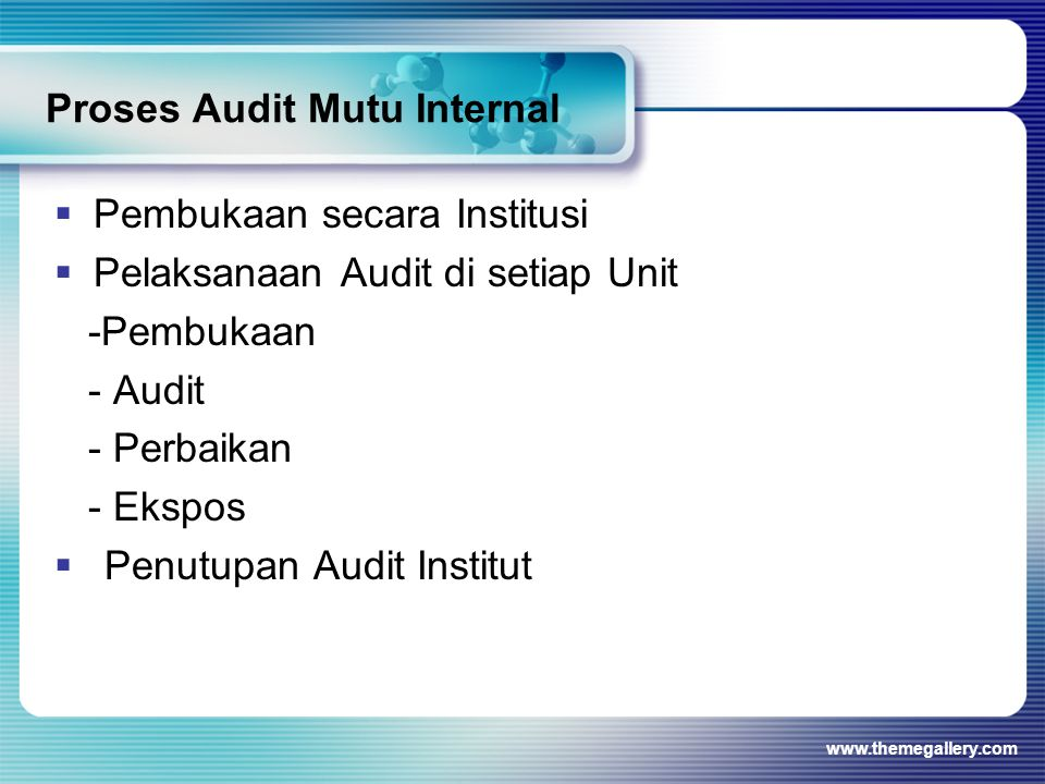 Proses Audit Mutu Internal