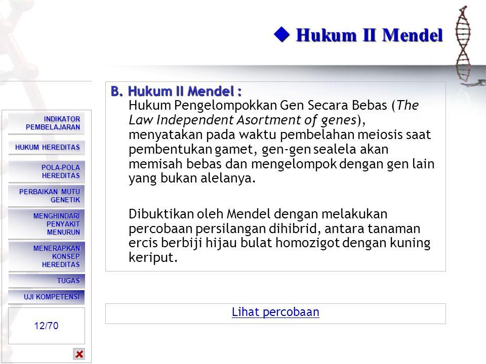  Hukum II Mendel