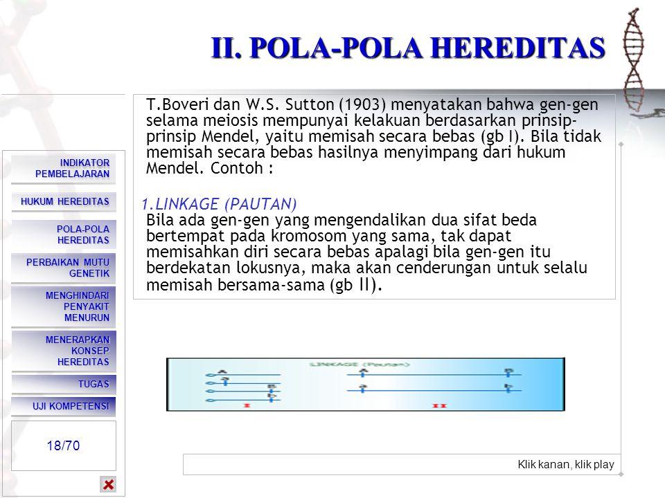 II. POLA-POLA HEREDITAS