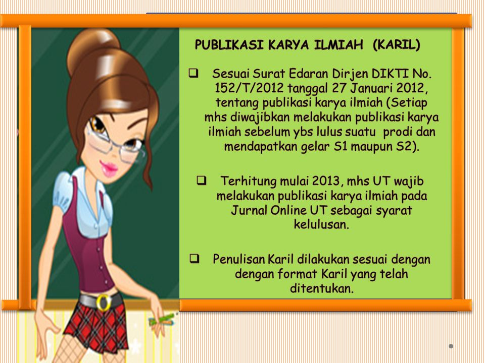 PUBLIKASI KARYA ILMIAH (KARIL)