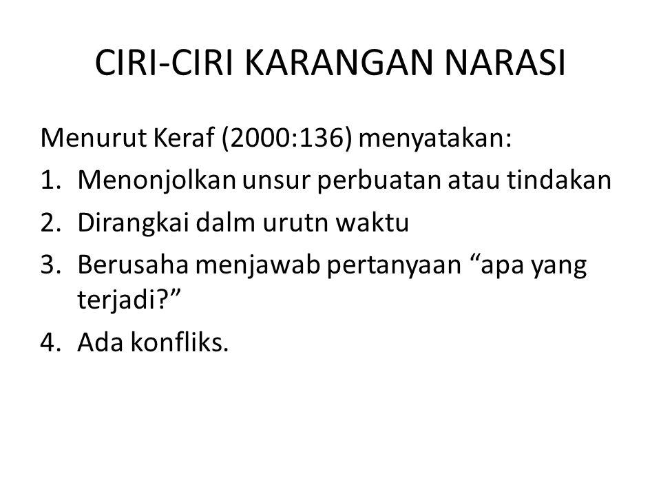 CIRI-CIRI KARANGAN NARASI