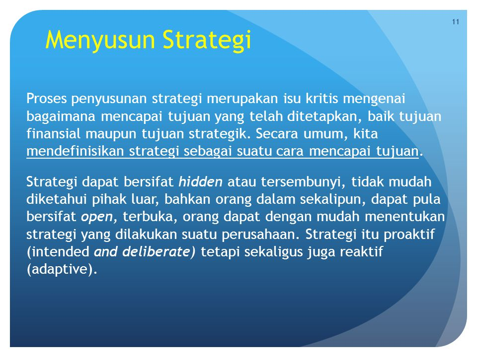Menyusun Strategi