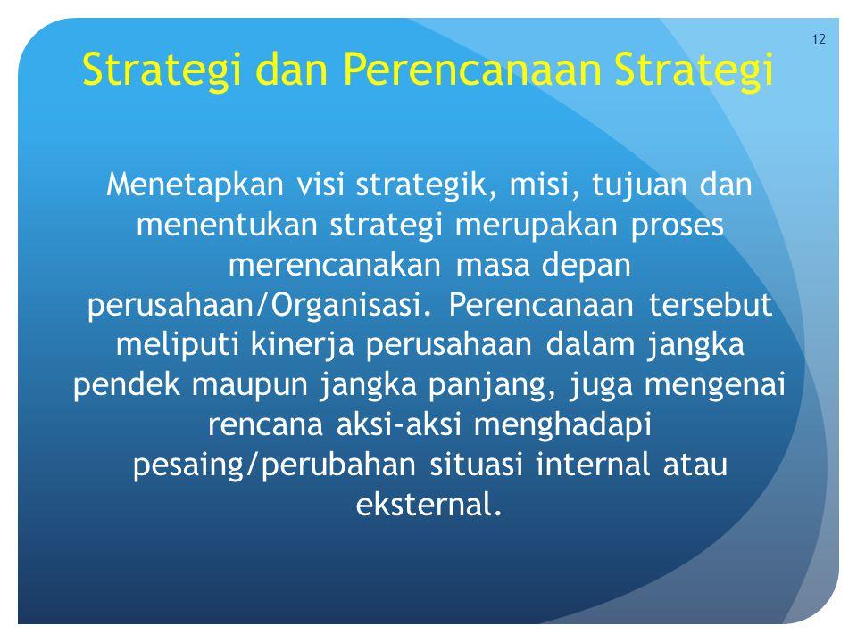 Strategi dan Perencanaan Strategi