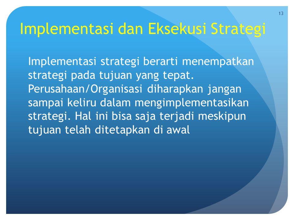 Implementasi dan Eksekusi Strategi