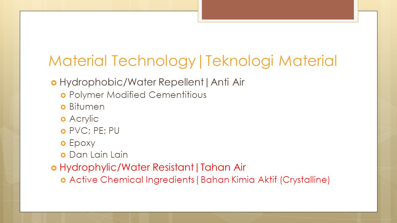 Material Technology|Teknologi Material