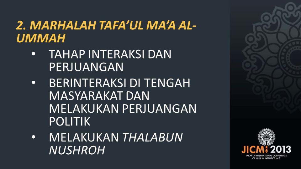 2. MARHALAH TAFA'UL MA'A AL-UMMAH