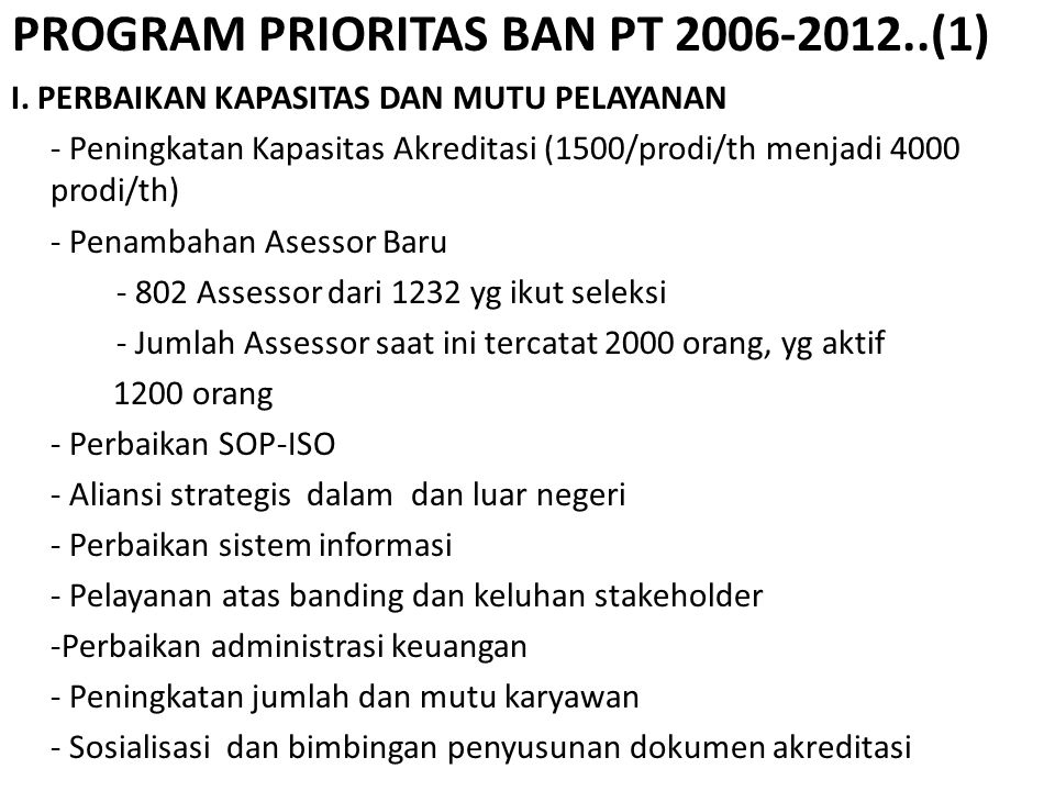 PROGRAM PRIORITAS BAN PT 2006-2012..(1)