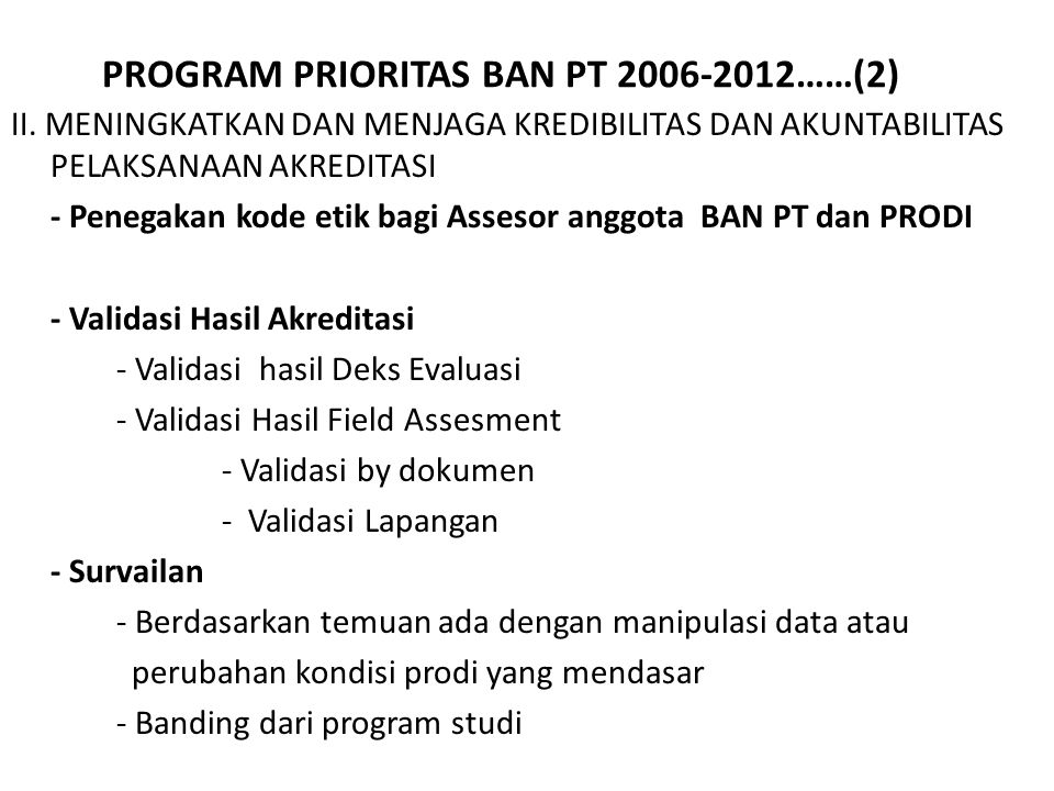 PROGRAM PRIORITAS BAN PT 2006-2012……(2)