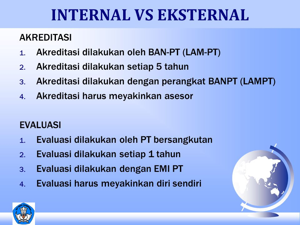 INTERNAL VS EKSTERNAL AKREDITASI