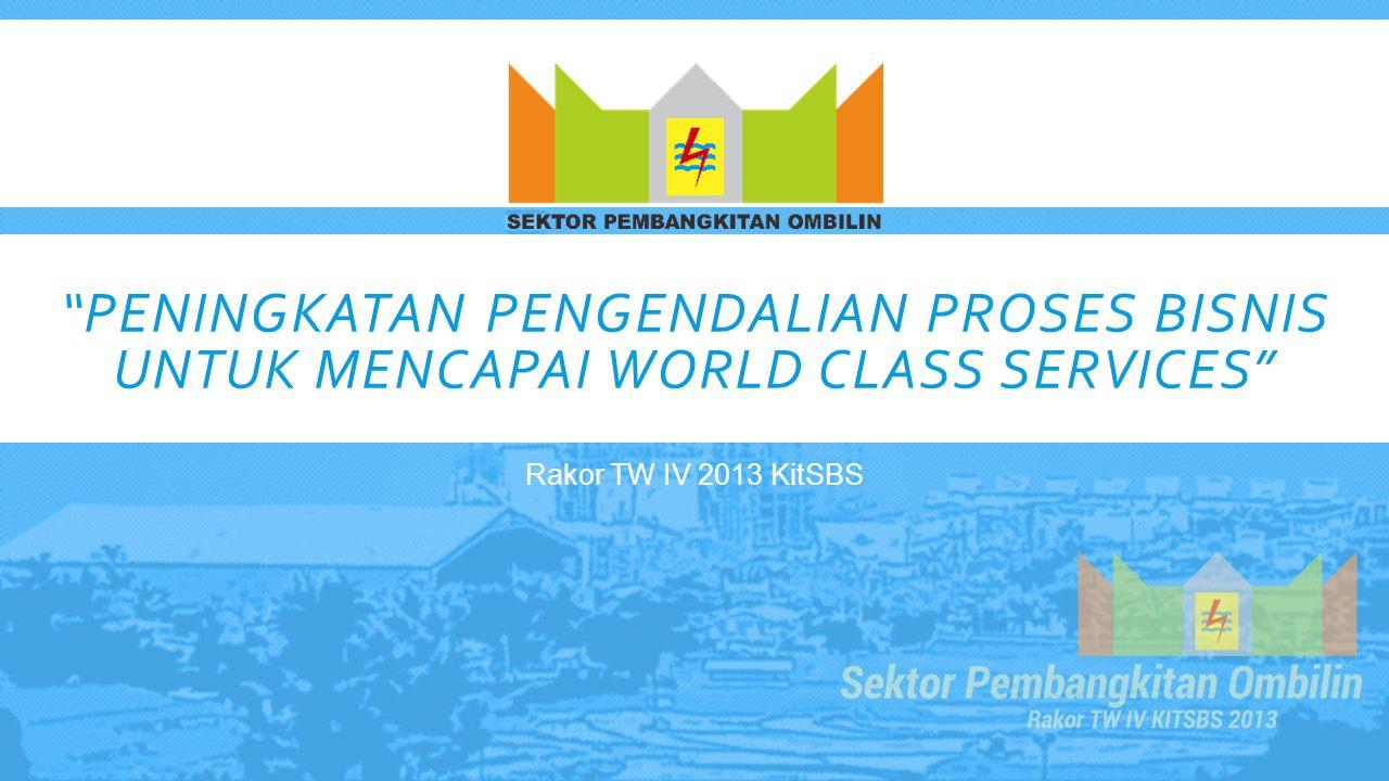 Peningkatan Pengendalian Proses Bisnis untuk Mencapai World Class Services
