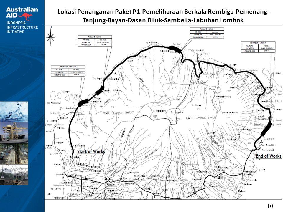 Lokasi Penanganan Paket P1-Pemeliharaan Berkala Rembiga-Pemenang-Tanjung-Bayan-Dasan Biluk-Sambelia-Labuhan Lombok