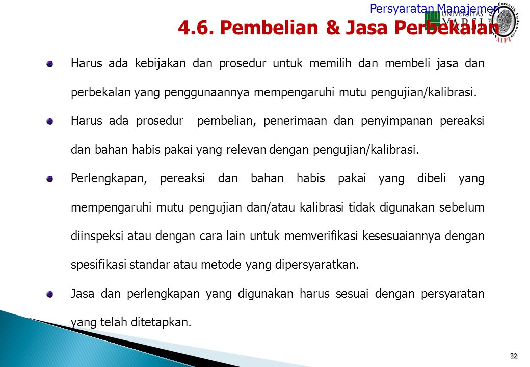 4.6. Pembelian & Jasa Perbekalan